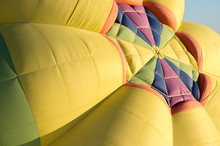 A Hot Air Balloon Fills With A...