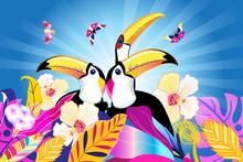 Tropical Bright Multicolored B...