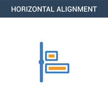 Two Colored Horizontal Alignme...