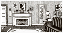 Interior View Of An Antique Ro...