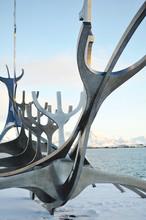 Sculpture Of Boat Structure Resembling Animal Bones