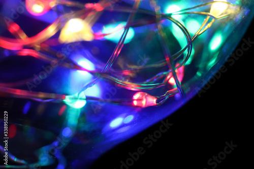 Kolorowe światło LED - fototapety na wymiar