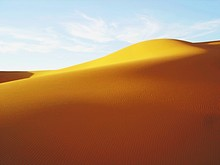 Rippled Pattern On Sand Dune