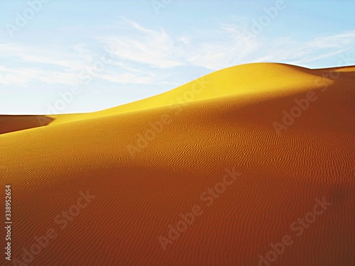 Canvas Print Rippled Pattern On Sand Dune