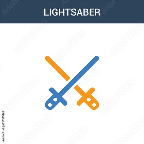 two colored Lightsaber concept vector icon Canvas Print