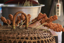 Fresh Sate Sticks Ready To Be ...