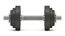 Black Dumbbell Front View 3D