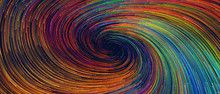 Abstract Background With Colorful Spiral Swirl Lines