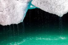 Close-up Of Glacier Ice Melting