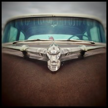 Close-up Of Hood Ornament On V...