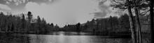 Boston Lake Panorama Black And...
