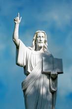 Religious Statue Of Jesus Hold...