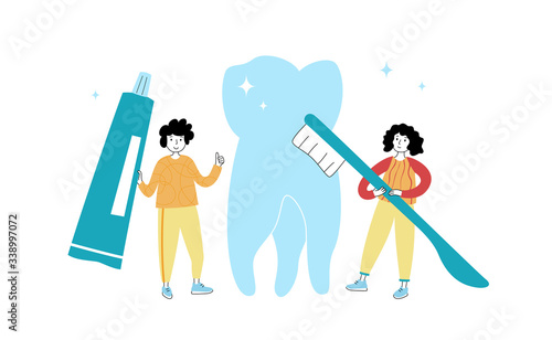 Fototapety, obrazy: Vector isolated illustration of tooth
