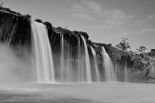 Low Angle View Of Dray Nur Waterfall Against Sky
