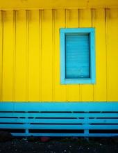 Yellow And Blue Beach Hut