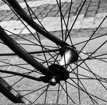 Detail Shot Of Cropped Bicycle Wheel
