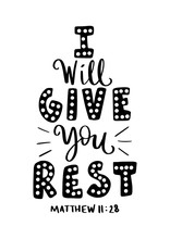 I Will Give You Rest. Bible Qu...
