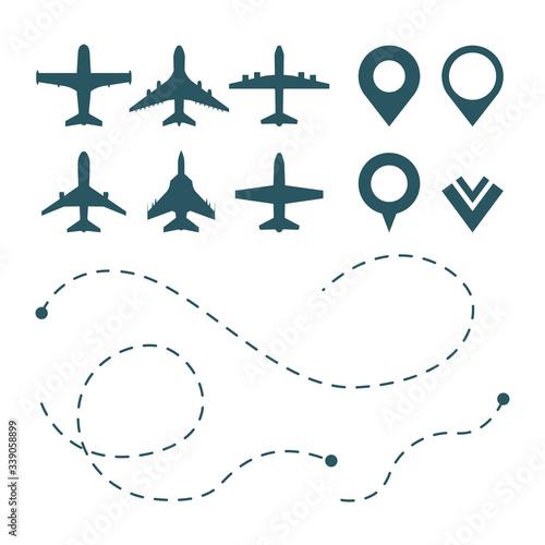 airplane symbols Canvas Print
