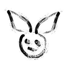 Rabbit Killer Ink Art Logo And...