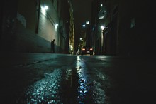 Surface Level Of Alley Amidst ...