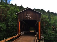 Historic Wooden Covered Bridge