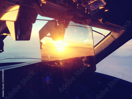 Sunlight Falling On Cockpit Of Airplane Fototapet