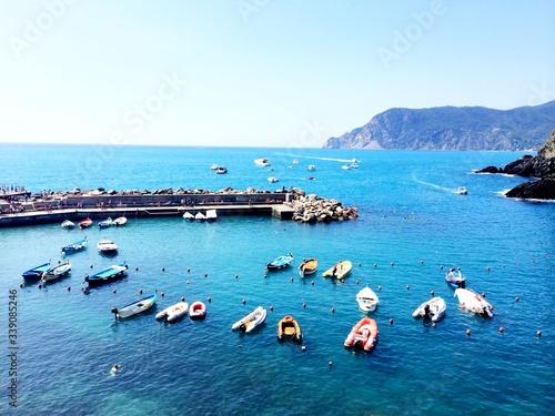 Obraz na plátně Small Boats Moored In Marina