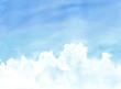 Leinwandbild Motiv 入道雲のある夏の空