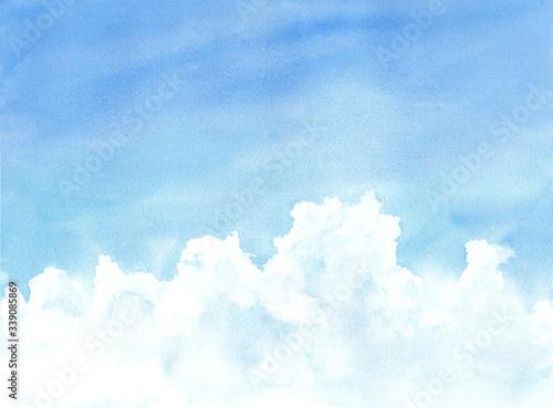 入道雲のある夏の空