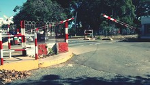 Barriers At Railroad Crossing