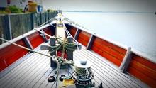 Nautical Vessel Moored On Sea