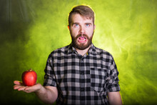 Handsome Man Hates Healthy Veg...