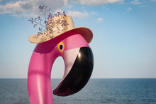 Inflatable Mattress Pink Flami...