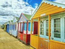 Multi Colored Beach Huts
