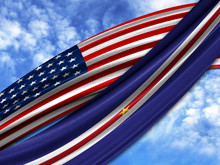 Flag Of America With Cape Verd...
