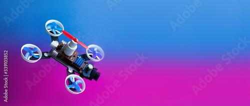 Fotografie, Tablou Drone multi copter in flight