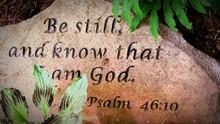 Psalm Written On Stone Outdoors
