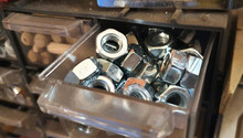 A Small Drawer Full Of Stainle...