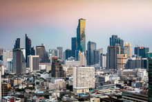 Bangkok City Skyline At Sunset...