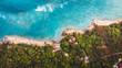 Drohnenaufnahme Strand mit Meer