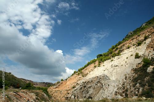 An aggregate mine, Zakynthos island, Greece Canvas Print