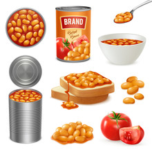 Baked Beans Isometric Set