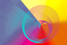 Colorful Spiral Abstract Circu...
