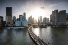 Miami Downtown Skyline At Suns...