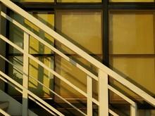 Close-up Of Railings Against Window