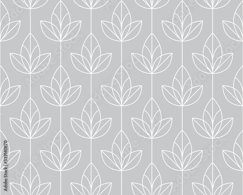 Fototapety szare  flower-geometric-pattern-seamless-vector-background-white-and-grey-ornament-ornament-for