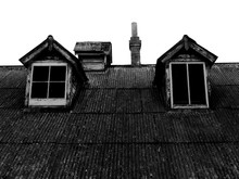 Old Roof With Dormer Windows