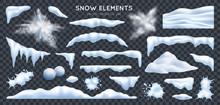 Snow Realistic Set Transparent