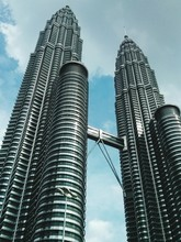 Low Angle View Of Petronas Tow...