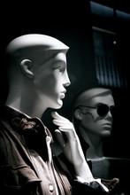 Portrait Of Mannequin Man Thinking